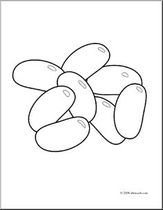 Kidney Beans Coloring Page