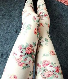 Rose Leggings Pantyhose