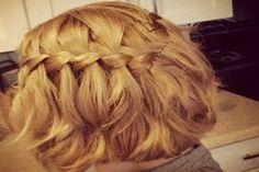 Waterfall Braid Hairstyles For Short Hair