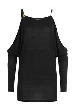 Drapiertes Kleid mit Cut-Out-Schultern detail 0