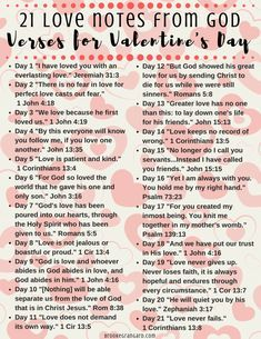 21 Love Notes from God - Bible Verse Scriptures to Encourage You on Valentines - Brooke Grangard Love Scriptures, Bible Verses About Love, Bible Love, Scripture Quotes, Bible Encouragement, Valentines Bible Verse, Valentine Poems, Wisdom Quotes, Emo Quotes