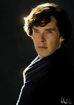 Sherlock Holmes Painting <-- I swear, I thought that was a actual picture at first// Beautiful!!