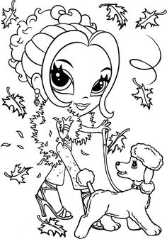 Lisa Frank Dog Colouring Pages