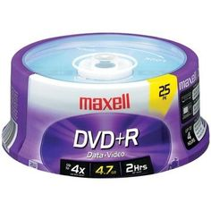 Maxell 4.7gb 120-minute Dvd+rs (25-ct Spindle)