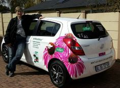 Christine is so excited to have the beautiful pink flowers of Echinaforce (A.Vogel) back on her car.