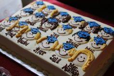 Cute Kindergarten or preschool graduation cake idea.would work for cupcakes, too! Pre K Graduation, Kindergarten Graduation, Graduation Cake, Graduation Ideas, Whipped Cream Cakes, Celebrate Good Times, Let Them Eat Cake, Cupcake Cakes, Cupcakes
