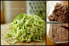 Zucchini brownie, cream cheese whipped topping