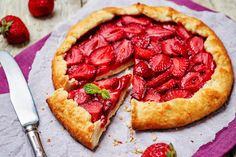 This Rustic Strawberry Galette is a deceptively simple, incredibly delicious summer dessert you will serve all season long. With only a handful of store-bought ingredients, it is becoming my summer…More Party Desserts, Summer Desserts, Summer Recipes, Crostata Recipe, Picnic Foods, Grilling Recipes, Afternoon Tea, Delicious Desserts, Food And Drink