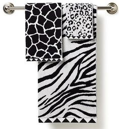 Exceptionnel Black And White Delight: Zebra Print. Animal Print BathroomBathroom  TowelsWhite ...