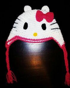 Gorro tejido a crochet - KITTY T: 12 a 24 meses
