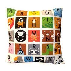 Typographic Design :: ABC Animals Deluxe Pillow by mymimi on Etsy