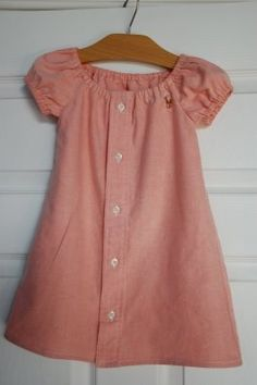 little girl dress from a men's shirt. Would be special to use Scott's @ DIY Home Crafts