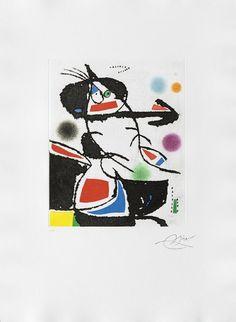 Joan Miró - Montagnards III (Les) (Catalogue raisonné, Dupin 1229), Print