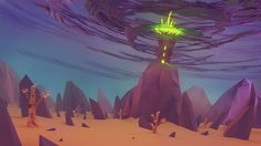 ArtStation - Wizard's Tower on the hill - Low poly style illustration, Rafał Urbański