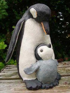 pinguin met jong