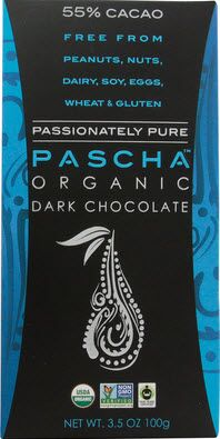 Pascha stands as the benchmark of superior quality dark chocolate because it is organic, fair-trade and non-GMO dark chocolate.