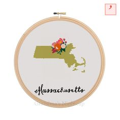Cross Stitch Pattern Massachusetts Cross by GrandmasNightcap