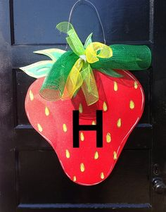 Summer door hangerStrawberry door by Furnitureflipalabama on Etsy, $30.00