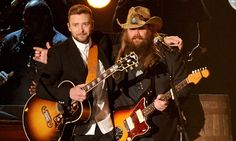 Chris Stapleton and Justin Timberlake singing at the CMA 2016 -Loved It!