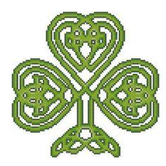 Celtic Shamrock cross stitch chart Pinoy Stitch $5.85