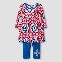 Baby Nay Baby Girls' Frida T-Shirt Dress & Legging Set - Pink, Infant Girl's