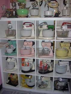 Mixer collection. My mother and I made many wonderful things with her Sunbeam mixer. I learned to make lemon cake from scratch when I was thirteen.