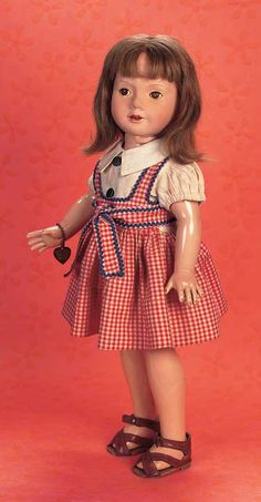"""Playful Art - The 20th Century Doll: 130 American Composition Doll from """"American Children"""" Series by Effanbee"""
