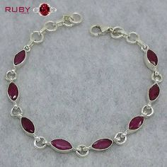 Beautiful ruby brecelet you can gift to your partner