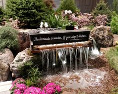 1. Piano waterfall