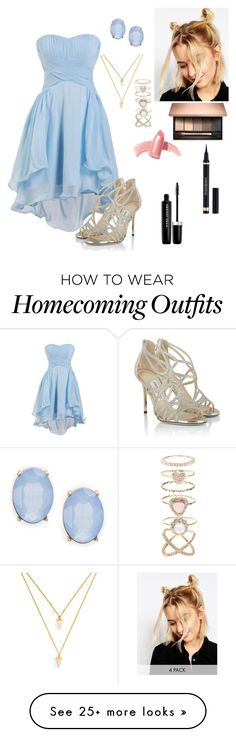 """Another dream prom outfit"" by frenchpotter on Polyvore featuring Jimmy Choo, ASOS, Accessorize, BaubleBar, Cara, Elizabeth Arden, Yves Saint Laurent and Marc Jacobs"