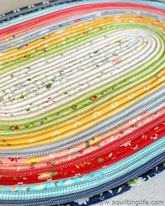 Jelly Roll Rug in Clover Hollow Close Up