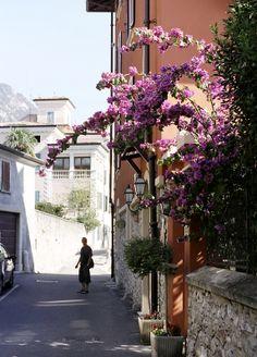 Gargnano street, Lake Garda