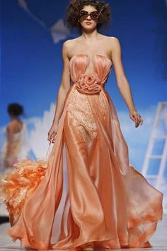 ♥♥ Peach bliss ♥♥......GLAMOUR GADGETS & DESIGNER CREATIONS: Nicolas Jebran