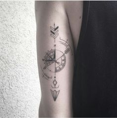 Planning to get this awesome compass tattoo