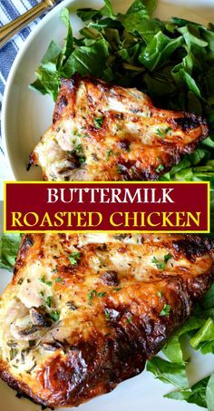 Baked Buttermilk Chicken, Buttermilk Recipes, Food Court, Cooking Recipes, Healthy Recipes, Easy Recipes, Roast Chicken Recipes, Recipe For Roasted Chicken, Chicke Recipes