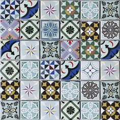 HOUSE OF MOSAICS Geo Moroccan Bright 8-Pack Multi 12-in x 12-in Multi-finish Glass; Metal; Stone Wall Tile in the Tile department at Lowes.com Mosaic Tile Sheets, Mosaic Tiles, Wall Tiles, Mosaics, Mosaic Patterns, Tribal Prints, Wow Products, Mosaic Glass, Geometric Shapes