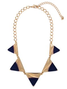 Cobalt-Dipped Collar from Bauble Bar.  $26.