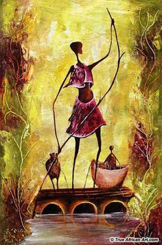 African art paintings for sale by Willie Wamuti