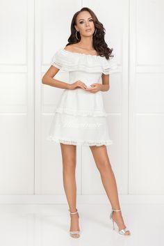 BLANCA biała White Dress, Dresses, Fashion, Vestidos, Moda, Fashion Styles, Dress, Fashion Illustrations, Gown