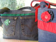 Green+red+ jeans (picture only)