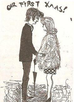 John W. O. Lennon♥♥Cynthia Powell-Lennon (drawing by John Lennon)