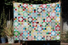 WONDERFUL blog on the different types of collaborative quilts by Stitched in Color