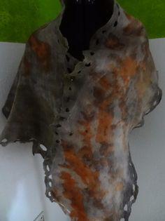 Filzschal aus Angorawolle & Merinowolle von felt + ecoprint by Halja_H auf DaWanda.com