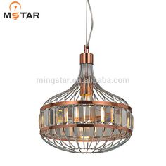 Modern single crystal pendant lights for decoration made in GuangDong manufactuer
