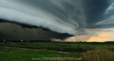"""Awe-inspiring.      """"Playing chicken with a mothership supercell thunderstorm. Who blinked first? via www.tornadohunter.com""""  (Source: tornadohunter.ca)  Weather Porn"""