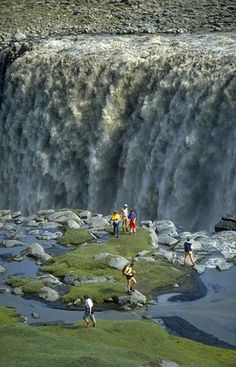 Dettifoss Waterfall, Jokulsa a Fjollum River, North East Iceland.