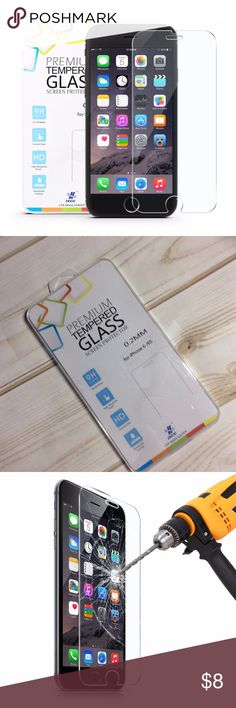 iPhone 6S 6 Screen Protector Glas iPhone 6S 6 Screen Protector Glass - iXCC High Definition Clear Tempered Glass Screen Protector Film for Apple iPhone 6S and iPhone 6 Premium tempered glass screen protector is designed for Apple iPhone 6s and 6 (4.7 inch) Ultra-thin 0.3mm 9H glass maintains high responsiveness and is fully compatible with the touchscreen's sensitivity while providing extreme protection against cuts, scrapes and scratches.  box #1 ixcc Accessories Phone Cases