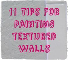 Painting textured walls is definitely something that I've gotten accustomed to over the past 5 years of home-ownership. Along the way, I've made many mistakes and learned a lot. Painting Tips, House Painting, Interior Paint, Interior Decorating, Painting Textured Walls, Ceiling Texture, Floor Trim, Room Paint, Paint Walls