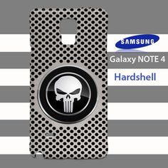 Punisher Aluminum Silver Hole Metal Samsung Galaxy Note 4 Case Cover
