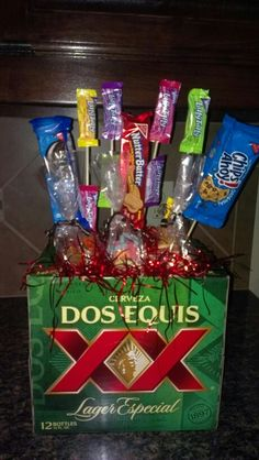 Gift diabetic healthy birthday gift basket for him http for the dad with a sweet tooth and the love of beer diy dad gift basket solutioingenieria Images